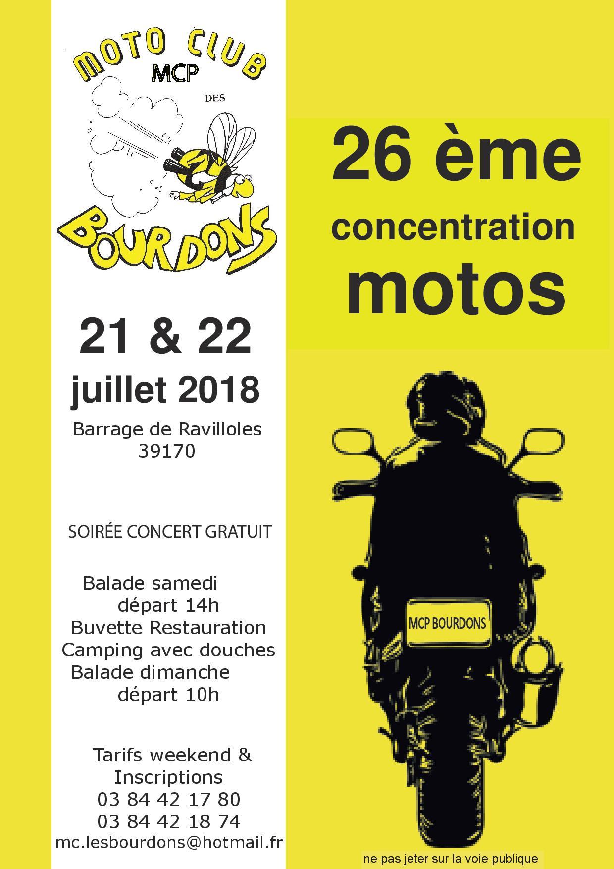 Fête de la moto du moto club des Bourdons