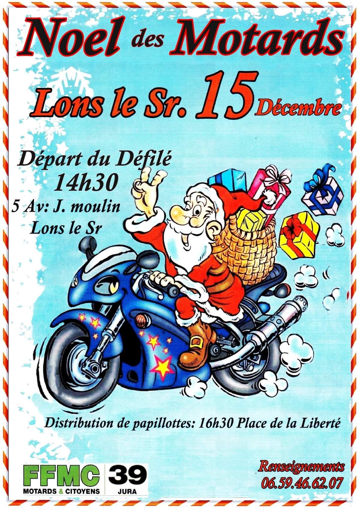 Le Noël des motards @ Lons-le-Saunier