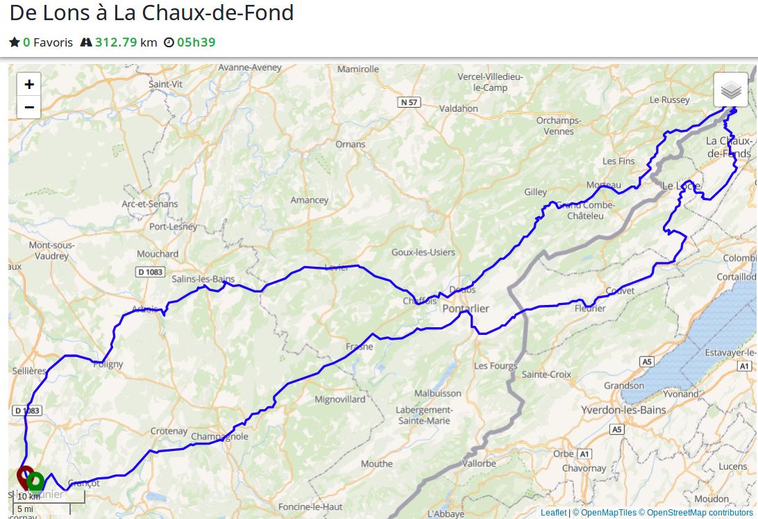 Road trip : de Lons-le-Saunier à La Chaux-de-Fonds