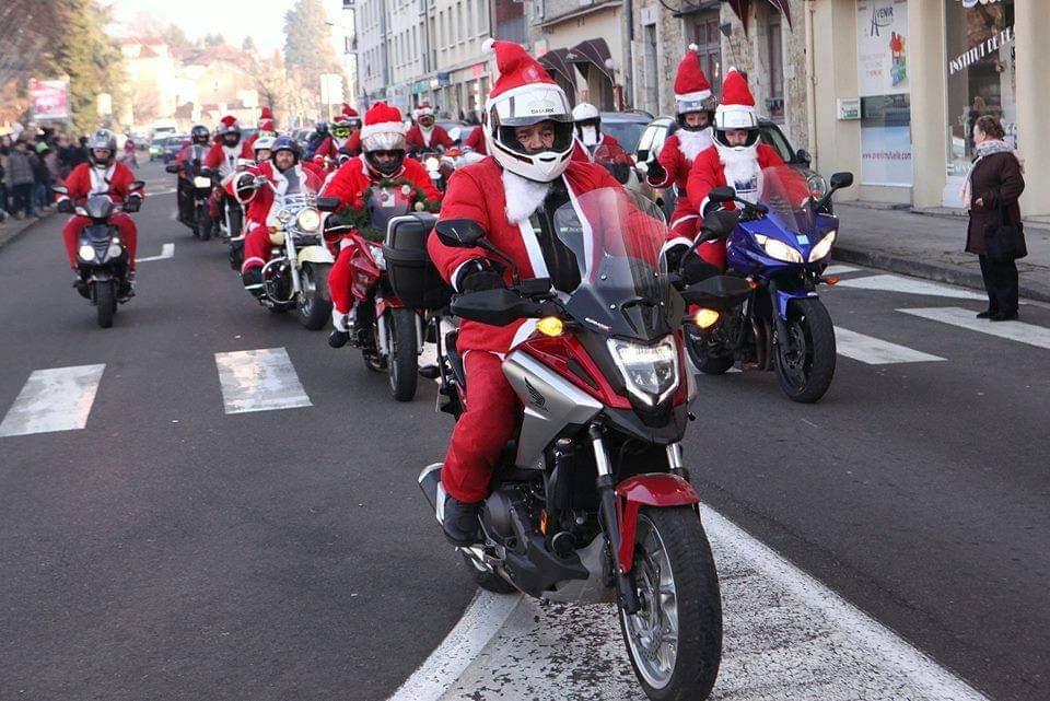 Pères Noël à moto : rendez-vous le 21 décembre à Lons-le-Saunier