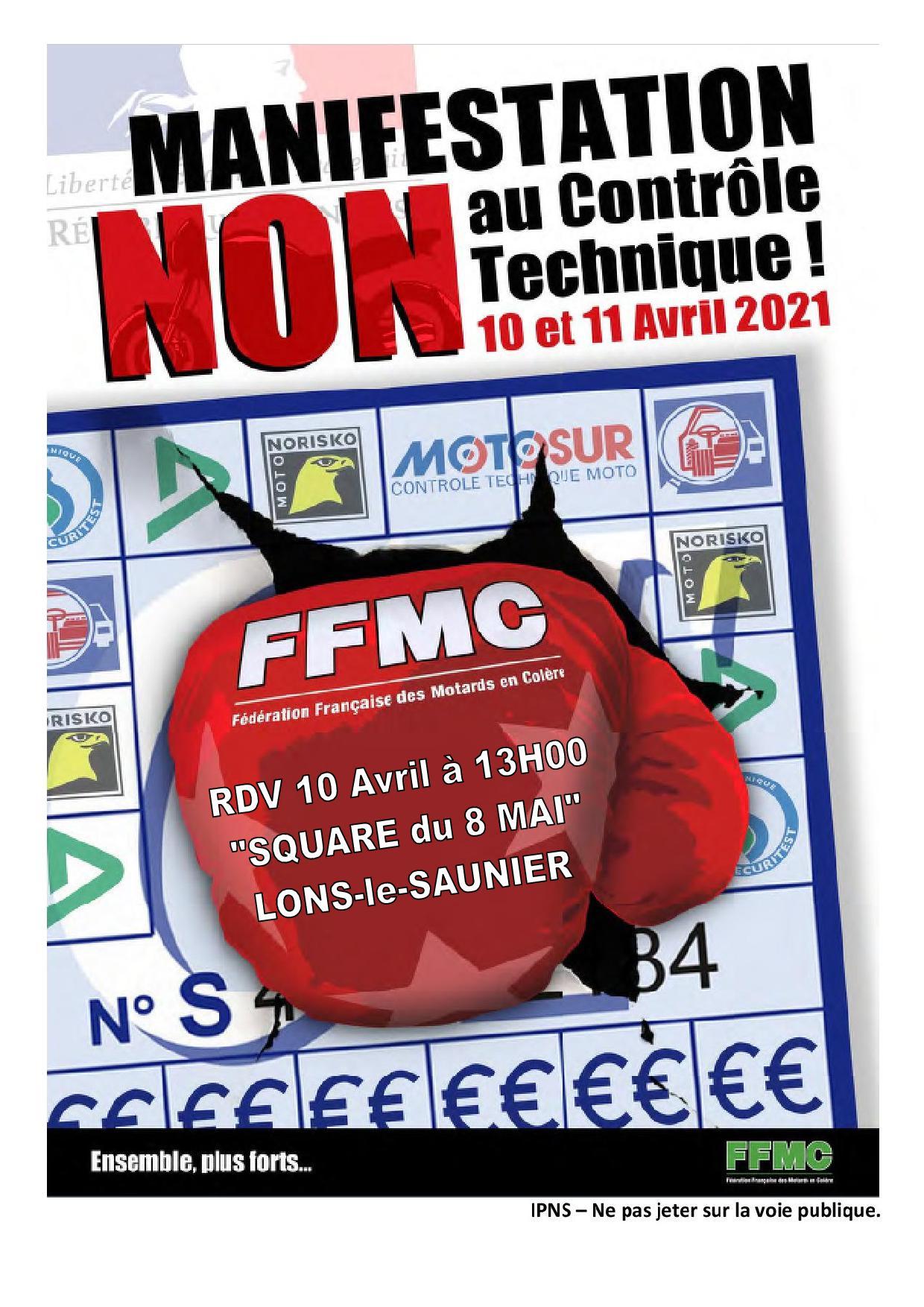 Contre le CT moto, la manifestation du Jura, samedi 10 avril 2021, est déclarée et autorisée